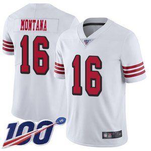 Mens 49ers Joe Montana 100th Season Jersey